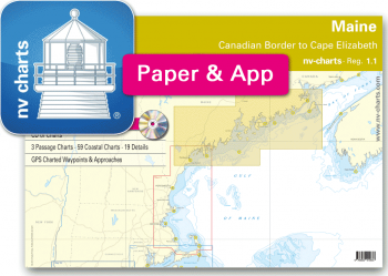 nv-charts Reg. 1.1, Maine, Canadian Border to Cape Elizabeth - with App charts direct download!