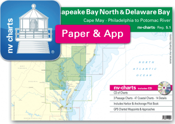 nv-charts Reg. 5.1, Chesapeake Bay North & Delaware Bay, Cape May, Philadelphia to Potomac River