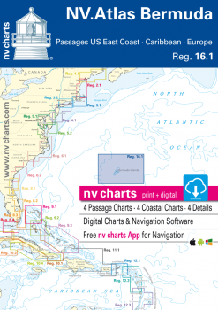 nv-charts Reg. 16.1, Bermuda Islands, Passages US East Coast, Caribbean, Europe