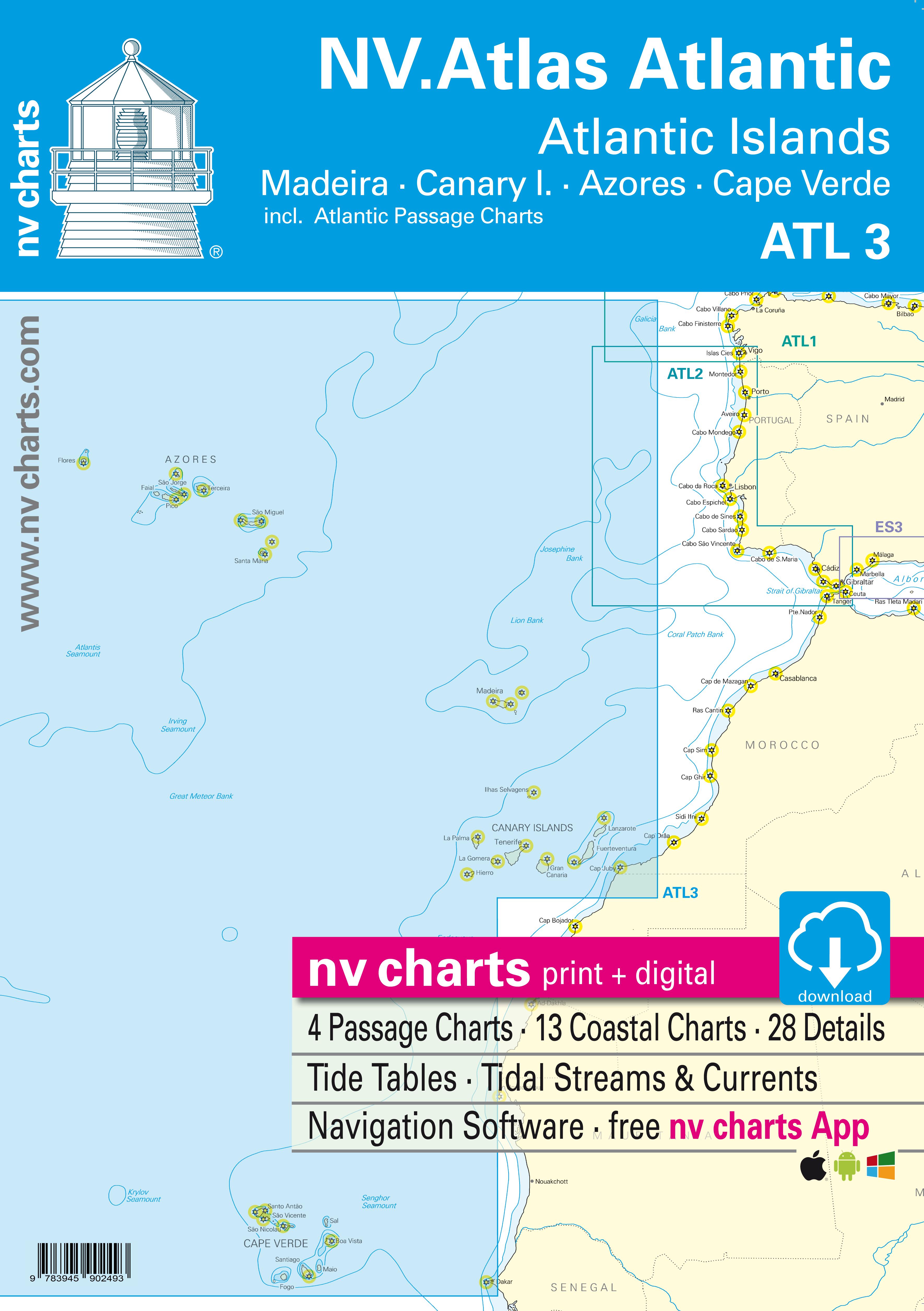 Nv Atlas Atlantic Atl 3 Atlantic Islands Madeira Canary Islands Azores Cape Verde 1506