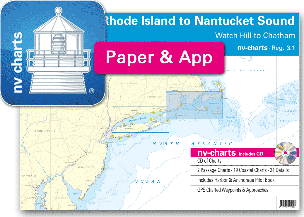 Nv Charts Reg 31 Rhode Island To Nantucket Sound Watch Hill To