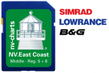 "NV. US East Coast Middle & Bermuda<br />SD / micro SD Card<br /><font style=""color: #e00d80; font-weight: 100;"">Middle · Reg. 5 + 6</font>"