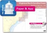 nv-charts Reg. 6.1, Virginia & North Carolina Coast, Norfolk to Cape Fear, ICW  - with App charts direct download!