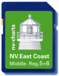 NV. Charts US East Coast Middle & Bermuda  SD / microSD Card